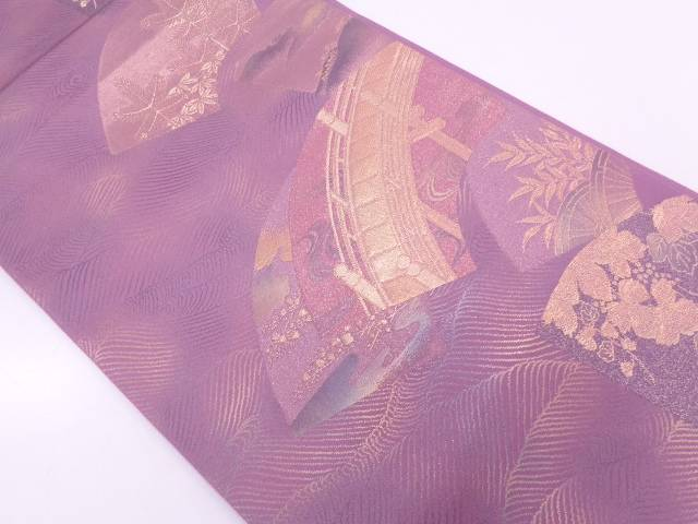【IDN】 地紙に橋・風景模様織出し袋帯【リサイクル】【中古】【着】