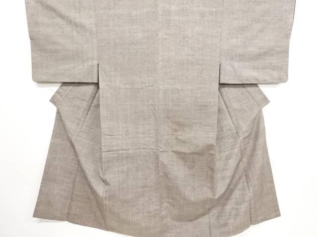 【IDN】 手織り真綿小千谷紬男物着物【リサイクル】【中古】【着】