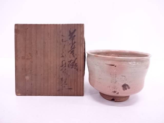 【IDN】 古物 御本手立鶴茶碗【中古】【道】