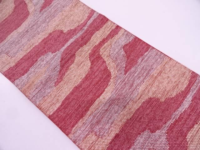 【IDN】 リボン織抽象模様織出し袋帯【リサイクル】【中古】【着】