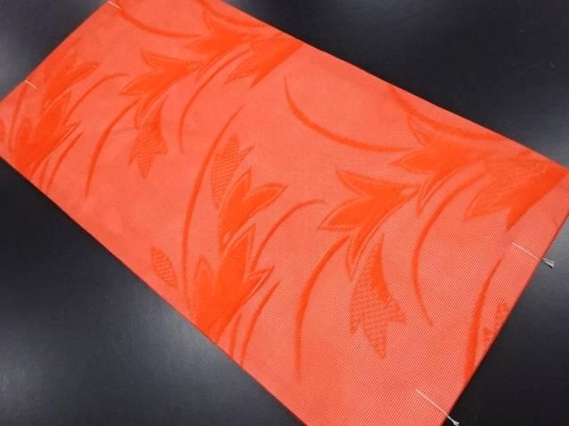 【IDN】 未使用品 紗草葉模様織り出し名古屋帯【リサイクル】【着】
