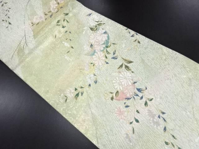 【IDN】 本金枝垂れ花模様織り出し袋帯【リサイクル】【中古】【着】