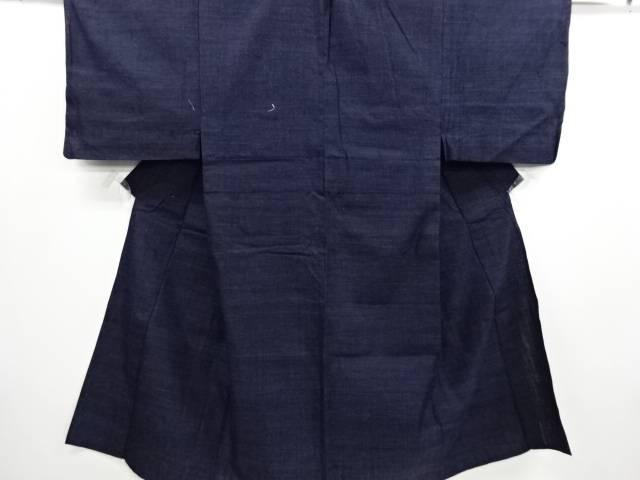 【IDN】 織り柄手織り真綿紬単衣男物着物【リサイクル】【中古】【着】