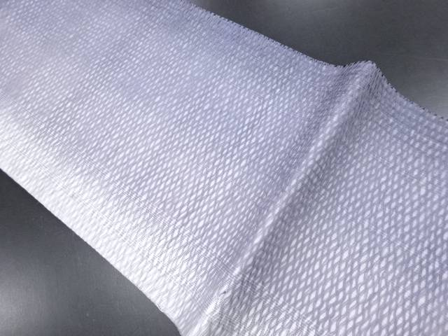 【IDN】 紗すくい織網目模様織り出し暈し名古屋帯【リサイクル】【中古】【着】