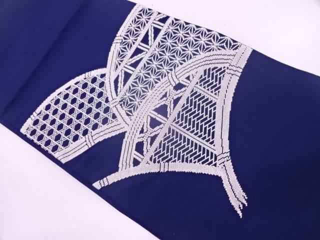 【IDN】 相良刺繍光悦垣に古典柄模様袋帯【リサイクル】【中古】【着】