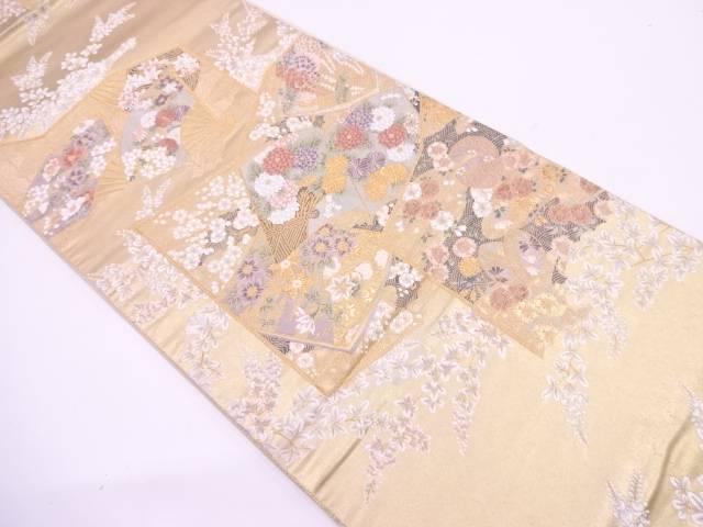 【IDN】 屏風絵本文織出し袋帯【リサイクル】【中古】【着】