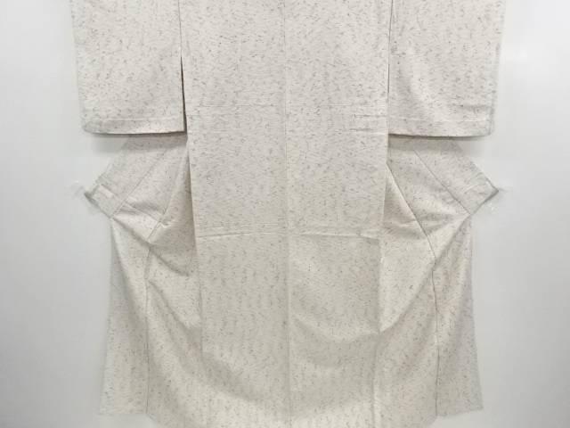 【IDN】 ひげ紬 横段模様織り出し単衣着物【リサイクル】【中古】【着】