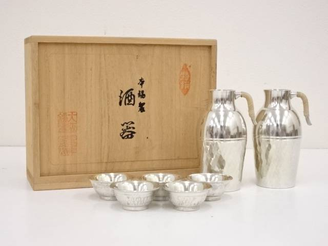 【IDN】 本錫製 酒器セット(462g)【中古】【道】