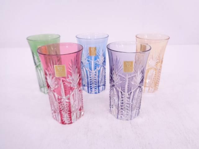 【IDN】 KAGAMI CRYSTAL GLASS サンクラール ミニグラス5客セット【中古】【道】