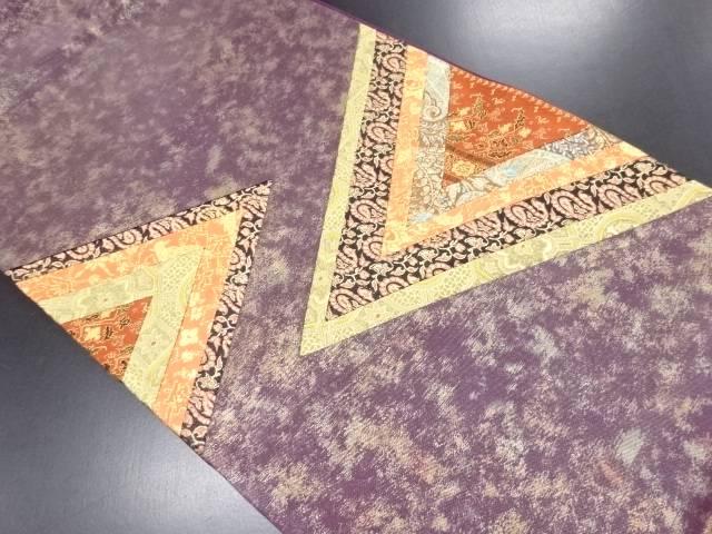 【IDN】 切りばめペイズリー模様織り出し袋帯【リサイクル】【中古】【着】