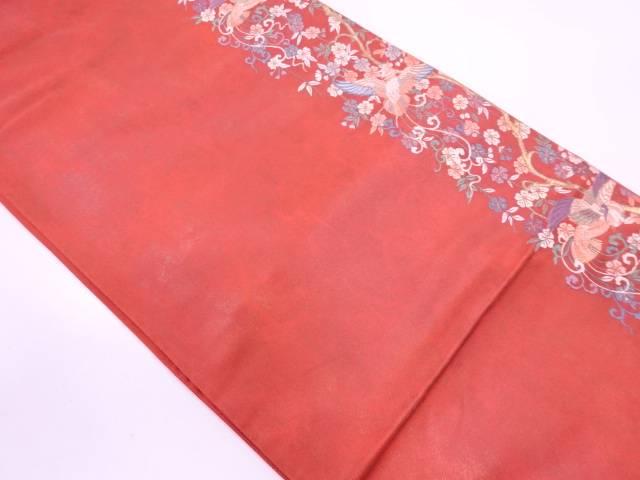 【IDN】 枝垂れ桜に鳳凰模様織出し袋帯【リサイクル】【中古】【着】
