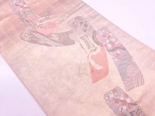 【IDN】 短冊集模様織出し袋帯【リサイクル】【中古】【着】