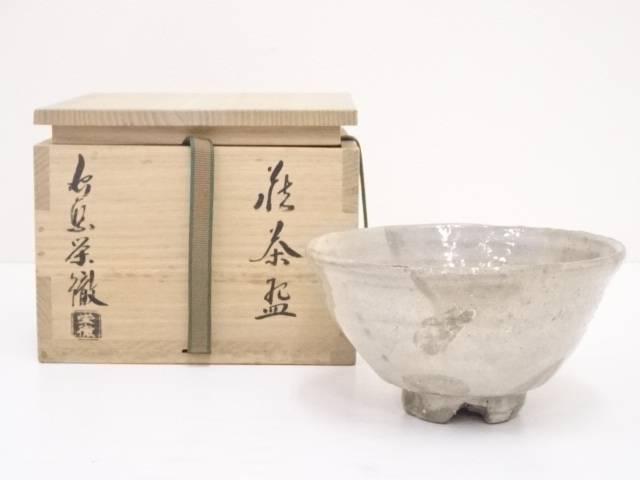 【IDN】 萩焼 守繁栄徹造 茶碗【中古】【道】