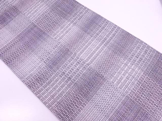 【IDN】 変わり市松に抽象模様織出し袋帯【リサイクル】【中古】【着】