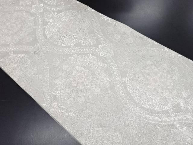 【IDN】 服部織物製 オリエント更紗華紋立涌模様織り出し袋帯【リサイクル】【中古】【着】
