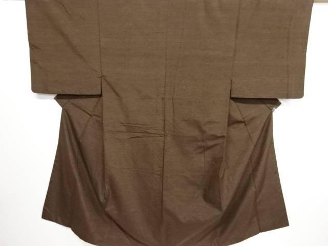 【IDN】 手織り真綿紬男物着物アンサンブル・長襦袢セット【リサイクル】【中古】【着】
