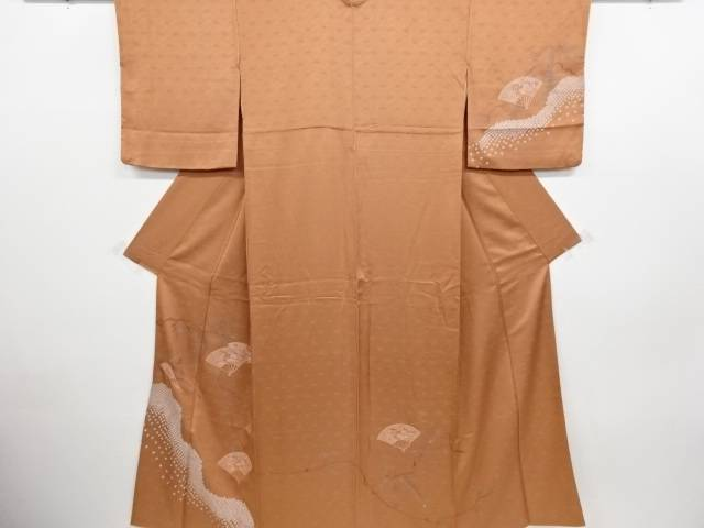 【IDN】 汕頭蘇州刺繍 扇に菊梅桜模様訪問着【リサイクル】【中古】【着】