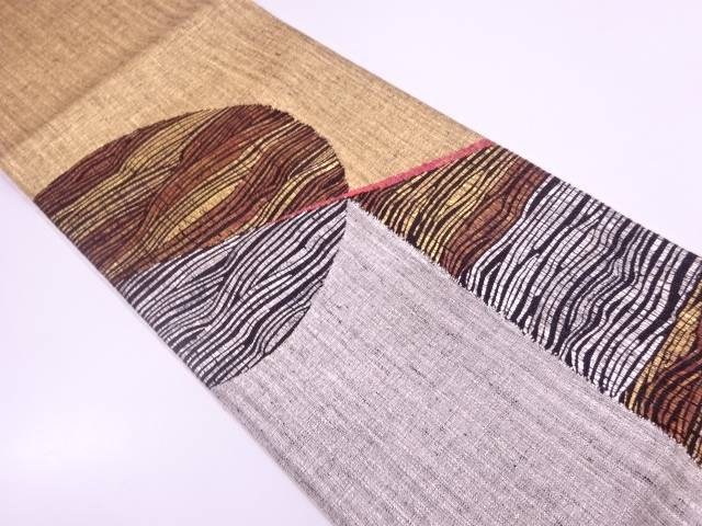 【IDN】 未使用品 すくい織抽象模様織出し袋帯 【リサイクル】【着】