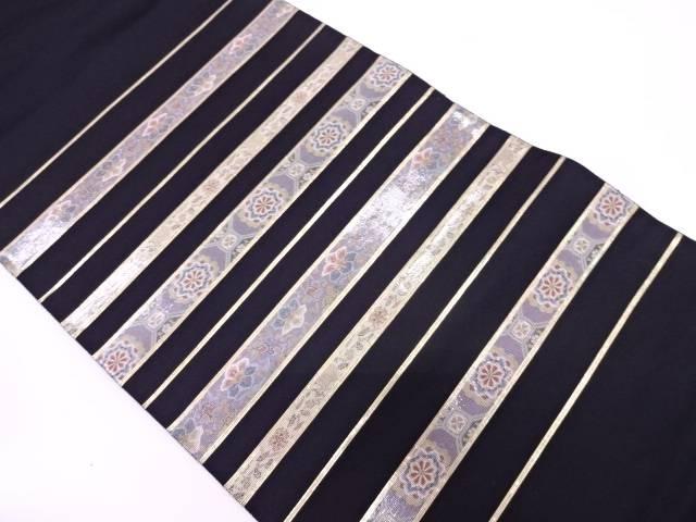 【IDN】 未使用品 引箔螺鈿横段に蜀江紋・花模様織出し袋帯【リサイクル】【着】