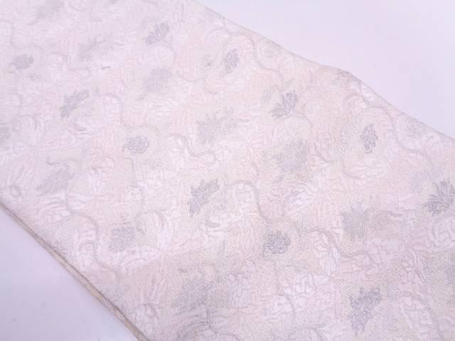 【IDN】 ふくい製 織匠十一代目 篠原宗兵衛謹製 花唐草模様織出し袋帯【リサイクル】【中古】【着】