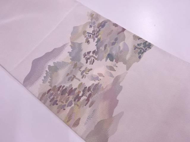 【IDN】 明綴れ山並み風景模様織出し袋帯【リサイクル】【中古】【着】