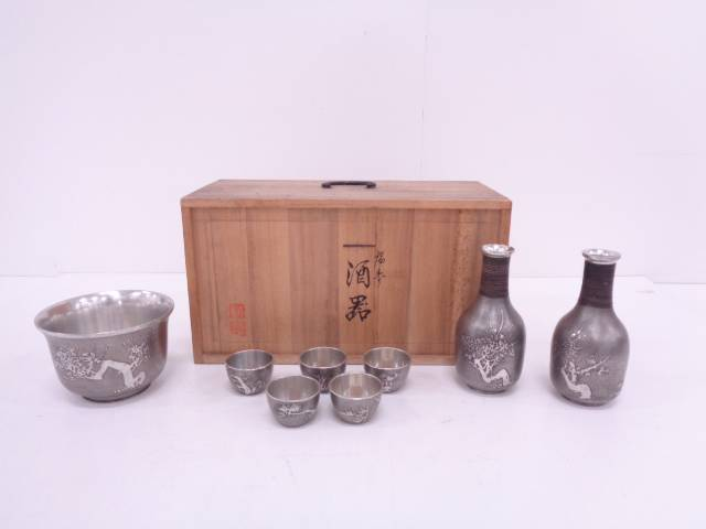 【IDN】 大丸製 錫製松竹梅酒器揃【中古】【道】