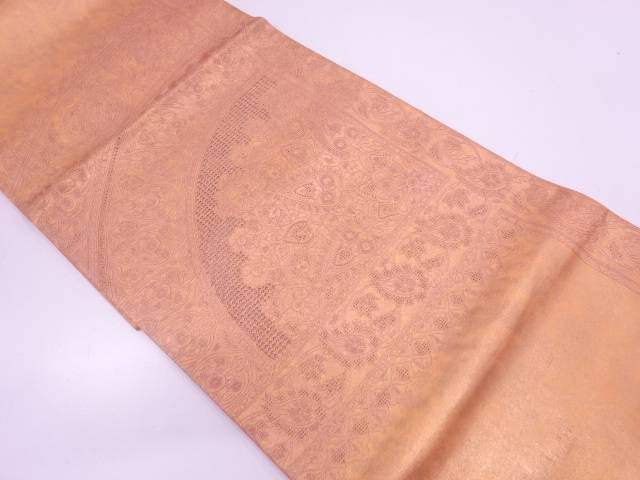【IDN】 汕頭相良刺繍草花模様袋帯【リサイクル】【中古】【着】