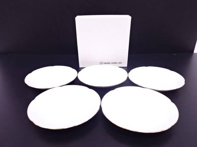 【IDN】 大倉陶園 ホワイトマスターピース フルーツ皿5客セット【中古】【道】