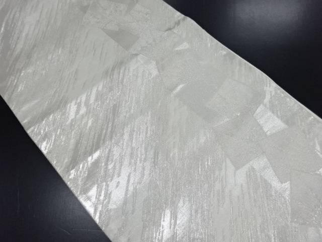 【IDN】 銀糸色紙に華紋織り出し袋帯【リサイクル】【中古】【着】