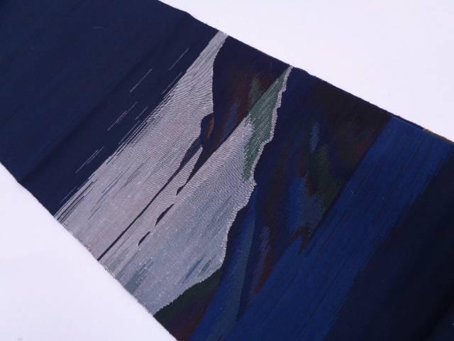 【IDN】 抽象模様織出しリバーシブル袋帯【リサイクル】【中古】【着】