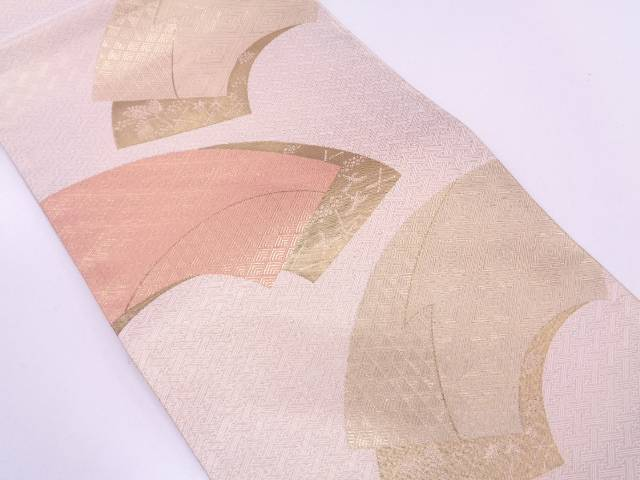 【IDN】 本場筑前博多佐賀錦地紙に鳥模様織出し袋帯【リサイクル】【中古】【着】