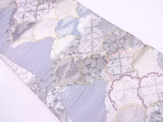 【IDN】 未使用品 雪輪青海波模様織出し袋帯 【リサイクル】【着】