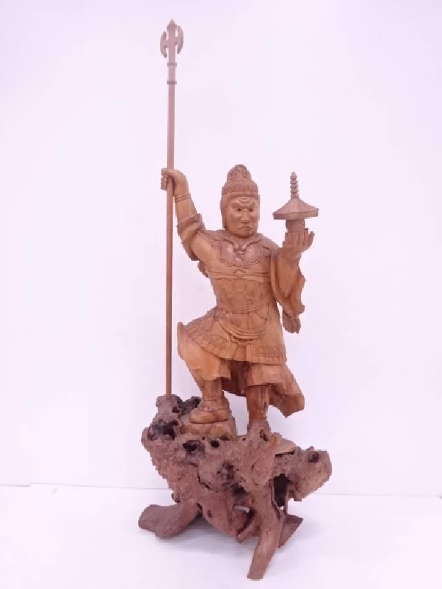 【IDN】 木彫り神仏置物【中古】【道】