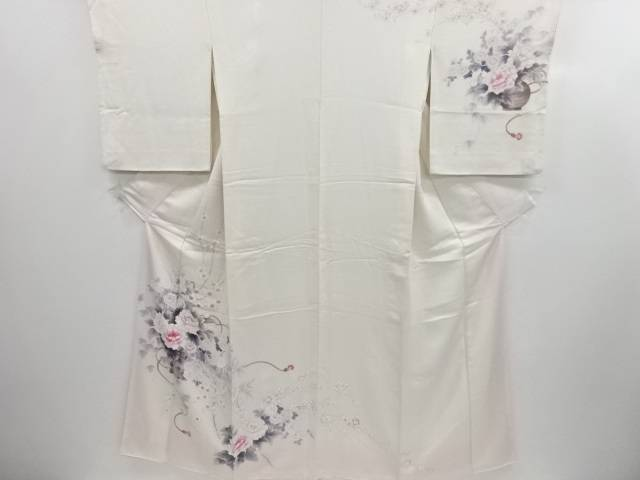 【30%OFF】【IDN】 花籠に牡丹・菊・藤模様訪問着【リサイクル】【中古】【着】