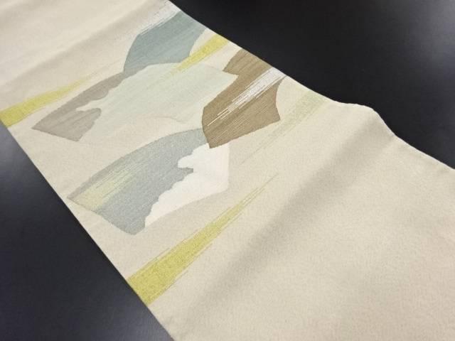 【IDN】 綴れ地紙模様織り出し袋帯【リサイクル】【中古】【着】