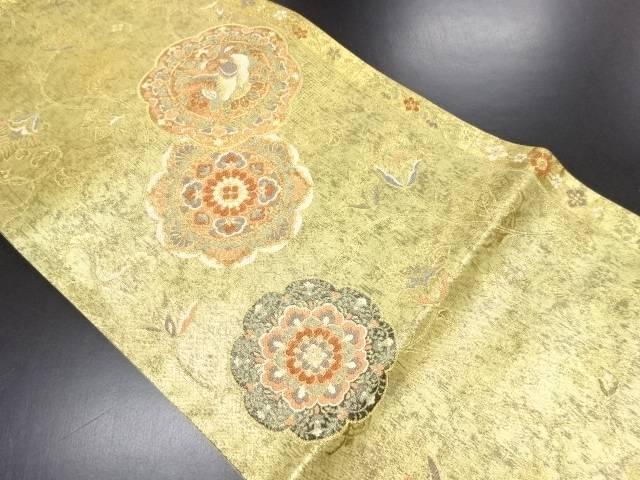 【IDN】 未使用品 本金箔更紗正倉院華紋織り出し袋帯【リサイクル】【着】