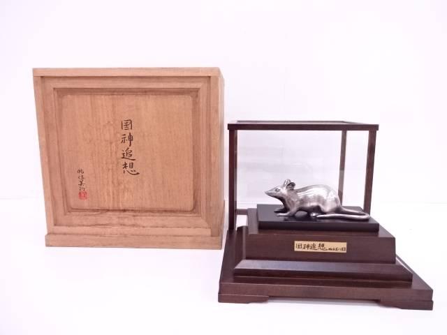 【IDN】 砧佐美行造 900銀 「国神追想」 置物(228g)【中古】【道】