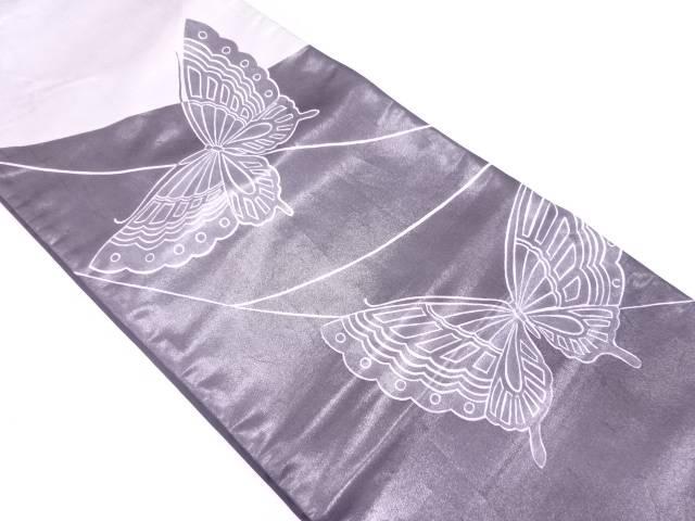 【IDN】 蝶模様袋帯【リサイクル】【中古】【着】