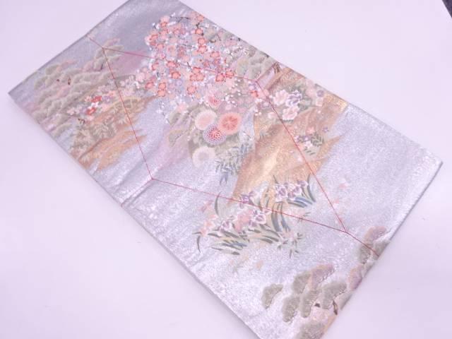【IDN】 未使用品 やまひで製 名勝秀鳳文様織出し袋帯【リサイクル】【着】