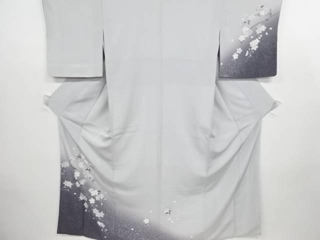 【30%OFF】【IDN】 手描きのり散らしに枝垂れ桜模様訪問着【リサイクル】【中古】【着】