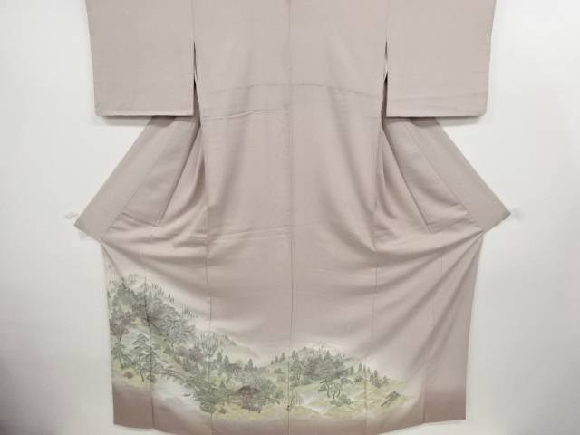 【IDN】 寿光織嵯峨野風景模様織り出し一つ紋色留袖【リサイクル】【中古】【着】