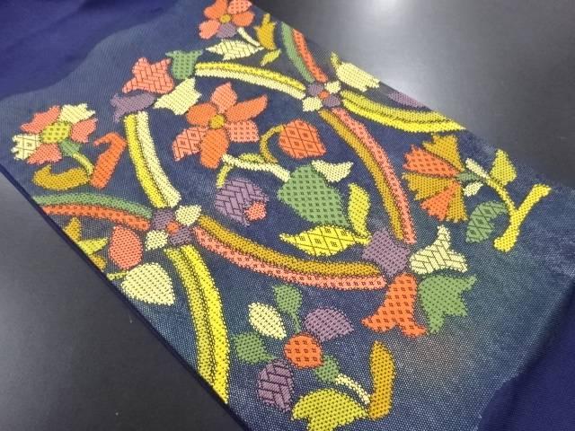 【IDN】 花模様織り出し袋帯【リサイクル】【中古】【着】