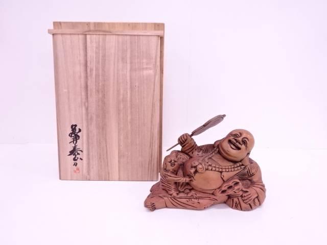 【IDN】 藤井泰山造 木彫福之神置物【中古】【道】