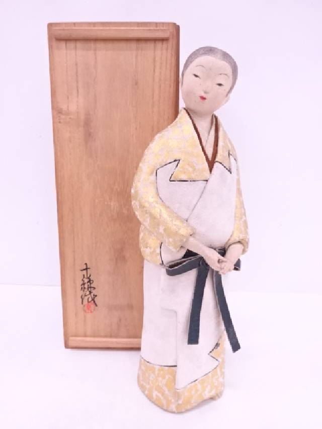 【IDN】 作家物 「ほととぎす」 人形置物【中古】【道】