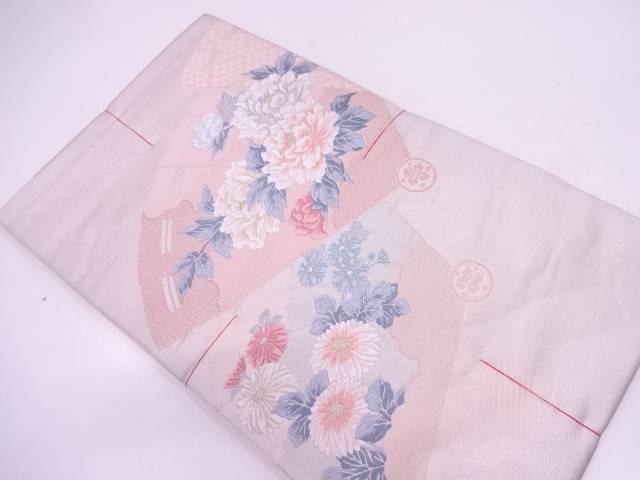 【IDN】 未使用品 檜扇に牡丹・草花模様織出し袋帯【リサイクル】【着】