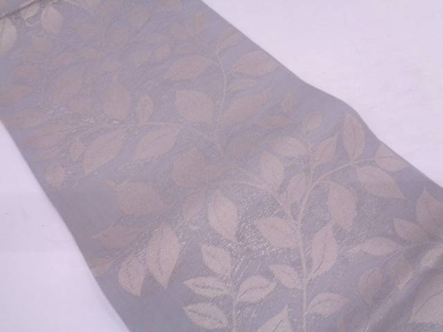 【IDN】 紗 枝葉模様織出し袋帯【リサイクル】【中古】【着】