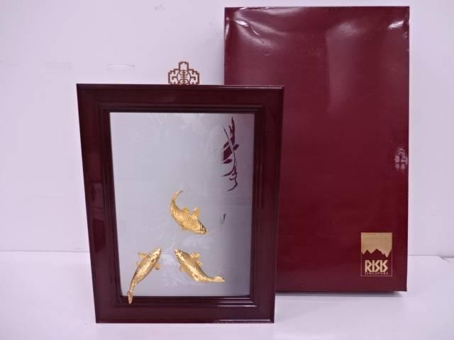 【IDN】 RISIS 24Kメッキ 金鯉飾額【中古】【道】, イノセントローズ:fd5337ab --- artvillage.jp