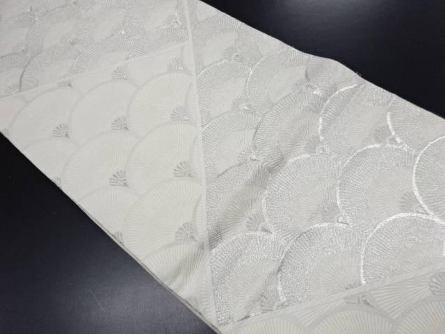【IDN】 松葉青海波模様織り出し袋帯【リサイクル】【中古】【着】