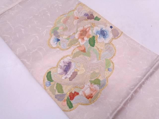 【IDN】 相良蘇州刺繍花鳥模様袋帯【リサイクル】【中古】【着】