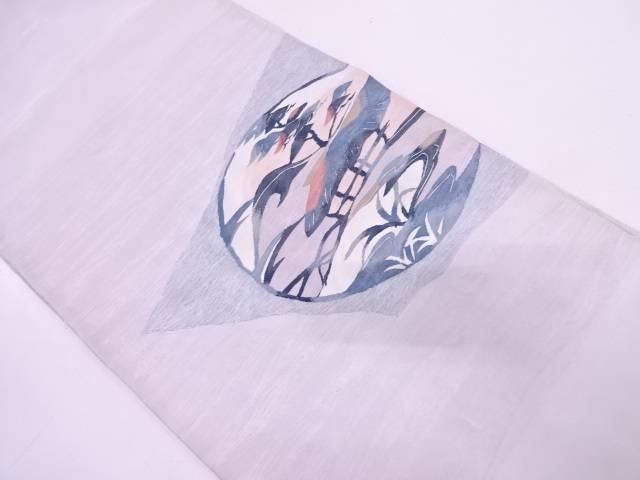 【IDN】 つちもと製 家屋風景模様織出し袋帯(未仕立て)【リサイクル】【中古】【着】